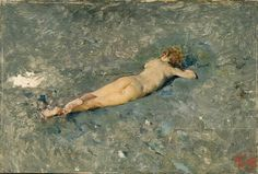 Mariano Fortuny y Marsal, nude on the beach at portici, 1874,  Prado museum