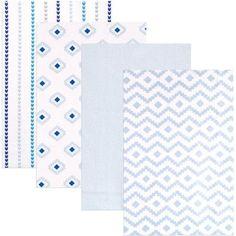Hudson Baby Receiving Blankets Flannel, 4pk, Boy Modern - Walmart.com