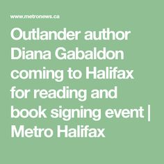 Outlander author Diana Gabaldon coming to Halifax for reading and book signing event | Metro Halifax