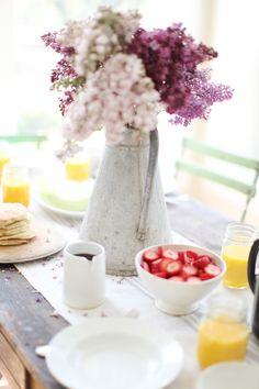 Dreamy Whites: A Favorite Pancake Recipe, Keeping The Table Simple, Spring