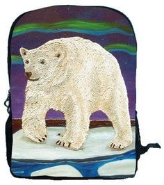 Polar Bear Book BagBackpack by Salvador Kitti  On by SalvadorKitti, $38.95
