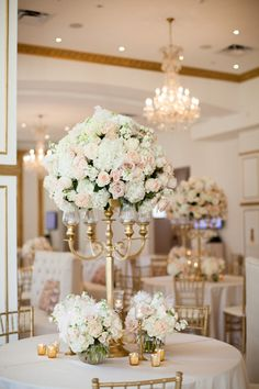 tall pink + gold centerpiece | Archetype Studios