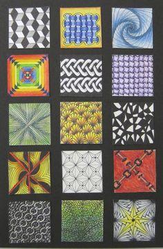 zentangle squares