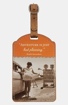 Shannon Martin Girl Designer 'Adventure Is Just Bad Planning' Luggage Tag on shopstyle.com