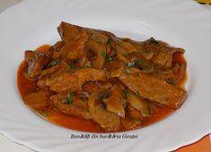 Tocanita de ciuperci si carne de porc - Bunătăți din bucătăria Gicuței Ratatouille, Carne, Ethnic Recipes, Pork