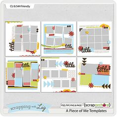 These templates from Scrapping by Liz (from Scrap Orchard) are AMAZING!  I just love the great inspiration from the Daily Digi!