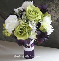 Purple Bridesmaids Bouquets