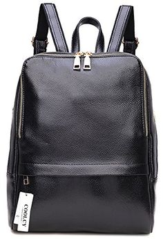 88d81eb57160 Amazing offer on COOLCY Coolcy Hot Style Women Real Genuine Leather  Backpack Fashion Bag (Black) online