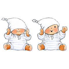 Muursticker bobbi met muts (set van 2) uit de online shop van Babyaccessoires.eu