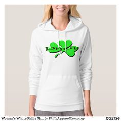 Women's White Philly Shamrock Hoodie  #stpatricksday st.patricks day #saints_patricksday saints patricks day treats #menswear saints patricks day outfits #saintspatricksday womens tshirts #womenswear #hoodie #womensfashion womens tshirts with sayings #womensrights women's tshirts #womenshealh #womensday leggings #leggings #shamrock womens hoodies #pillows womens hoodies outfit #ornaments womens hoodies fashion #mug womens hoodies & sweatshirts
