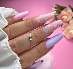 53 Outstanding Short Coffin Nails Design Ideas - Page 9 of 53 - TipSilo Aycrlic Nails, Chic Nails, Stylish Nails, Bling Nails, Trendy Nails, Swag Nails, Manicure, Coffin Nails, Bright Summer Acrylic Nails