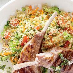 Salade de couscous aux légumes   recettes.qc.ca