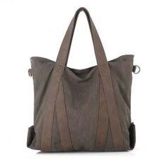Tote bag for school, black tote canvas bag, khaki travel tote for women