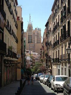 Edificio Telefónica desde Calle Colón #Malasaña #Madrid