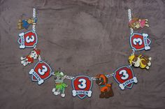 Paw Patrol Name Banner by lillovebugcreations on Etsy