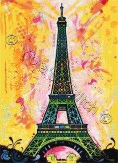 Eiffel Tower Dean Russo cross stitch | Yiotas XStitch