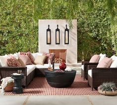 Need patio inspiration? Shop Pottery Barn for outdoor and patio furniture and decor. Find outdoor dining tables, sofas, sectionals and more and create an inviting outdoor space. Best Outdoor Furniture, Outdoor Garden Furniture, Rustic Furniture, Furniture Decor, Antique Furniture, Modern Furniture, Furniture Design, Furniture Makeover, Furniture Stores