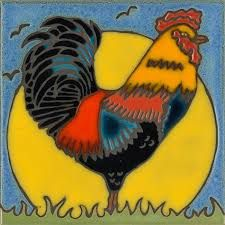 Image result for hand painted chickens