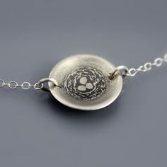 Tiny Sterling Silver Nest Necklace by Lisa Hopkins Design