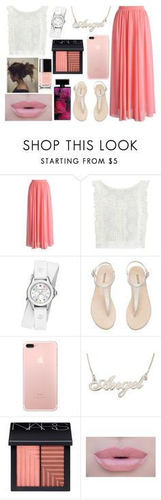 """""""#1187 Maxi"""" by arasshjit ❤ liked on Polyvore featuring Chicwish, MINKPINK, Michele, H&M, NARS Cosmetics, Morphe and Elizabeth Arden"""