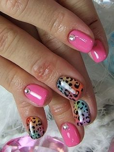 Anmial print nail art, im starting to get jealous looking at these nail designs!