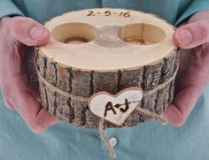 Personalized WOODEN Ring Holder Ring Bearer White Ash Wood Rustic Country - Cell Phone Finger Holder - Ideas of Cell Phone Finger Holder - Personalized WOODEN Ring Holder Ring Bearer White Ash Wood Rustic Country Wedding Brown Camo Wedding, Wedding Tips, Rustic Wedding, Our Wedding, Wedding Planning, Garden Wedding, Elegant Wedding, Wedding Gowns, Trendy Wedding