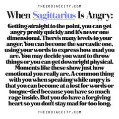 Zodiac Files: When Sagittarius Is Angry - Is this really you or is it just your feelings you were holding in.