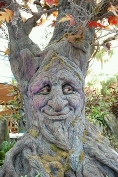 A True Green Man. But who photo-shopped you.to Face ! Weird Trees, Tree Faces, Tree People, Unique Trees, Tree Carving, Green Man, Land Art, Tree Art, Garden Art