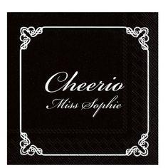 GREVINNEN OG HOVMESTEREN SERVIETTER - CHEERIO   FESTSTEMNING.NO Chalkboard Quotes, Art Quotes, Chanel, Tote Bag, Bags, Handbags, Tote Bags, Totes, Lv Bags