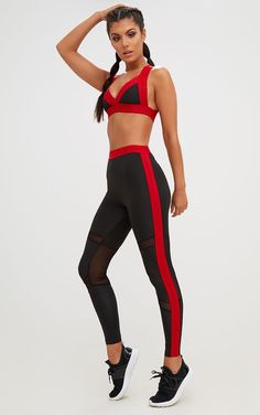 71f3d0b48b9f8 Image Red Band, Gym Leggings, Pretty Little, Little Things, Active Wear,