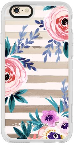 Casetify iPhone 6 New Standard Case - Victoria_Flower-soft-blushing-clear by Crystal Walen