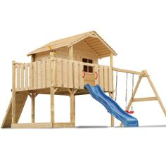 Spielturm Stelzenhaus Baumhaus Holzspielhaus Rutsche Schaukel Gartenhaus: Amazon.de: Spielzeug