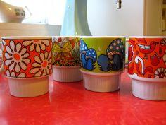vintage 60's mugs