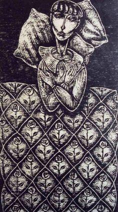 Deborah Klein The+Little+Hours,+1993+woodcut.jpg