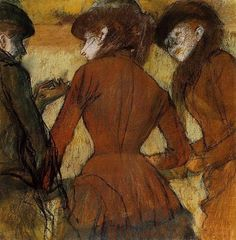 Three Women at the Races, 1885 by Edgar Degas. Impressionism. genre painting. Denver Art Museum, Denver, CO, United States