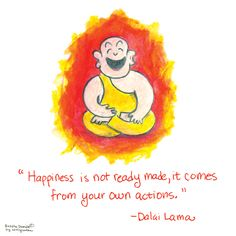 Buddha Doodle - 'Happiness'by Mollycules♥ Please Share with Your Friends ♥
