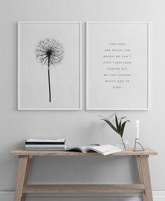 Schönes Botanik-Poster in Schwarz-Weiß.