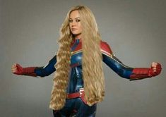 Miss Marvel Rapunzelized! by hairluster on DeviantArt Really Long Hair, Super Long Hair, Big Hair, Long Hair Drawing, Anime Haircut, Beautiful Christina, Beautiful Long Hair, Amazing Hair, Gorgeous Hair