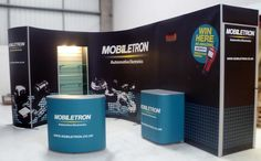 Mobiletron Exhibit stand with Counters