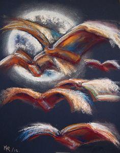 bibliolectors: The book is like a great bird with many wings to fly / El libro es como un gran pájaro con muchas alas para volar (ilustración de Maite Rubert)