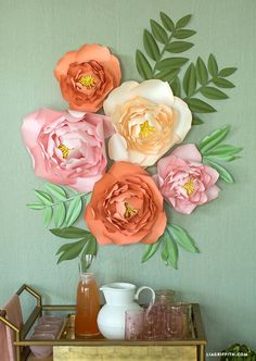Make Your Walls POP with This Jumbo Peony Flower Backdrop! - Home Decoration Ideas Tissue Paper Flowers, Diy Flowers, Peony Flower, Giant Paper Flower Diy, Paper Flower Making, Diy Paper Flower Backdrop, Paper Flowers Wall Decor, Paper Flowers Wedding, Paper Flower Wall