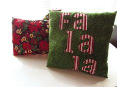 Holiday Chirstmas pillows Xmas pillow sets Fa la la by Itsewbella
