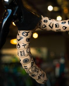 The bar tape details on @mr_phunk's Surly Cross Check. It's the little things. ... ... ... ... .... #surlybikes #crosscheck #bartape #salsacyclea #qbp #touringbike #steelisreal #carytown