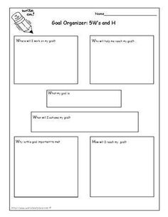 Goal organizer worksheet, covers all counselor areas: individual ...