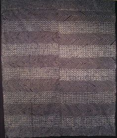 Africa | Adire alabere; Indigo dye with hand-stitched resist on cotton  | c. 1975-86