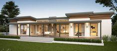 Yallingup Retreat Farmhouse Home Design Dream House Plans, Modern House Plans, Modern House Design, Flat Roof House, Facade House, Style At Home, Bungalow Haus Design, Bungalow Ideas, Ventura Homes