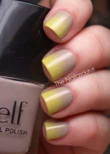 Neon and Nude ombre