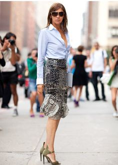 Carine Roitfeld and her cool pencil skirt*