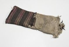 Nalbound sock (only ankle part), Repola, Russia. Prior to 1942. Length 40 cm, width 14.5 cm.