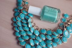 Tiffany blue necklace.
